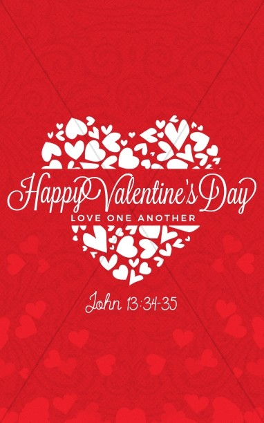 Happy Valentine's Day Love One Another Church Bulletin