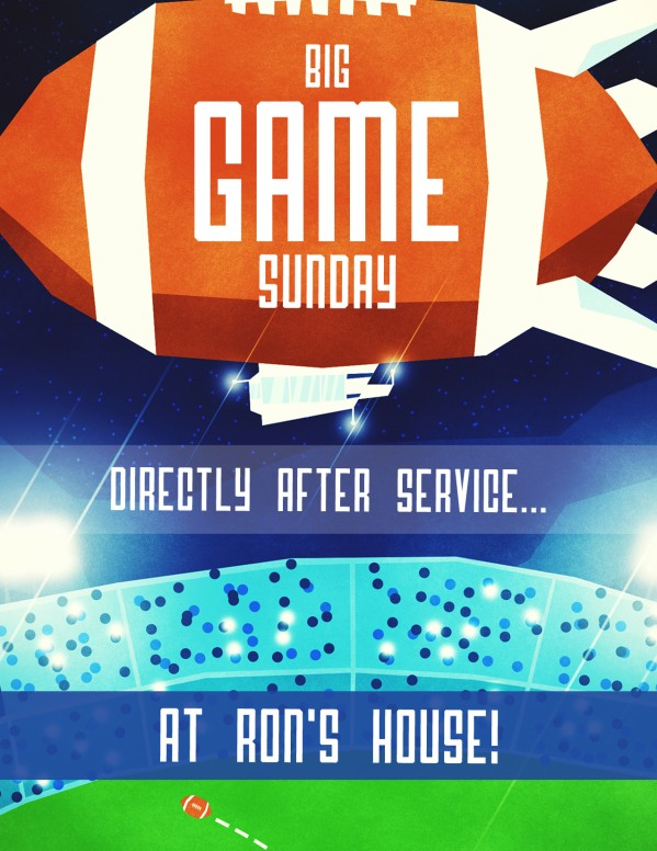 Super Sunday Big Game Church Flyer