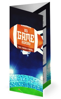 Super Sunday Big Game Church Trifold Bulletin