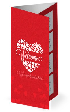 Happy Valentine's Day Love One Another Church Trifold Bulletin