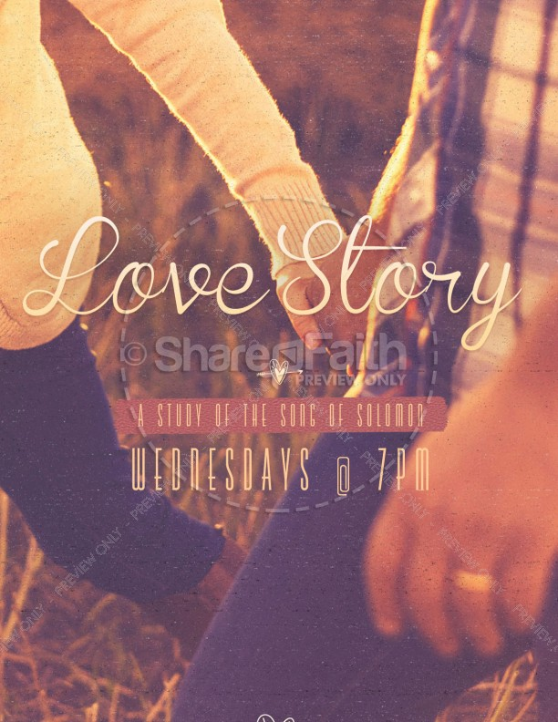 Love Story Song of Solomon Church Flyer