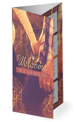 Love Story Song of Solomon Church Trifold Bulletin