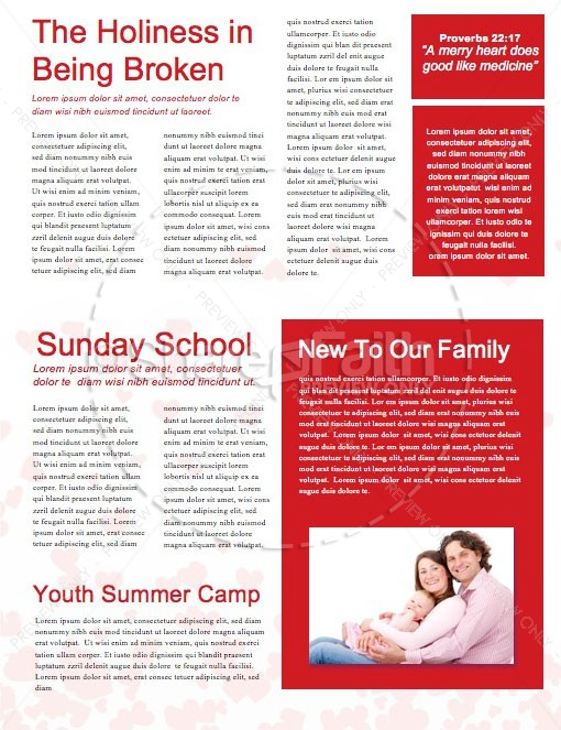 Happy Valentine's Day Love One Another Church Newsletter