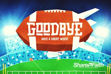 Super Sunday Big Game Goodbye Motion Graphic