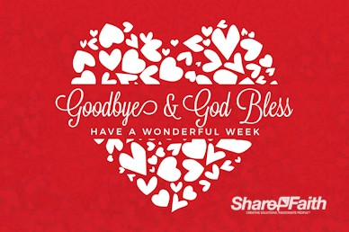Happy Valentine's Day Love One Another Goodbye Motion Graphic