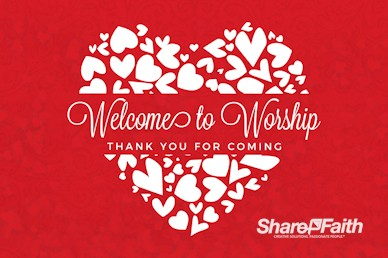 Happy Valentine's Day Love One Another Welcome Motion Graphic