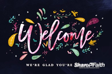 Love Never Gives Up Welcome Church Motion Graphic