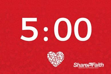 Happy Valentine's Day Love One Another Church Countdown Timer