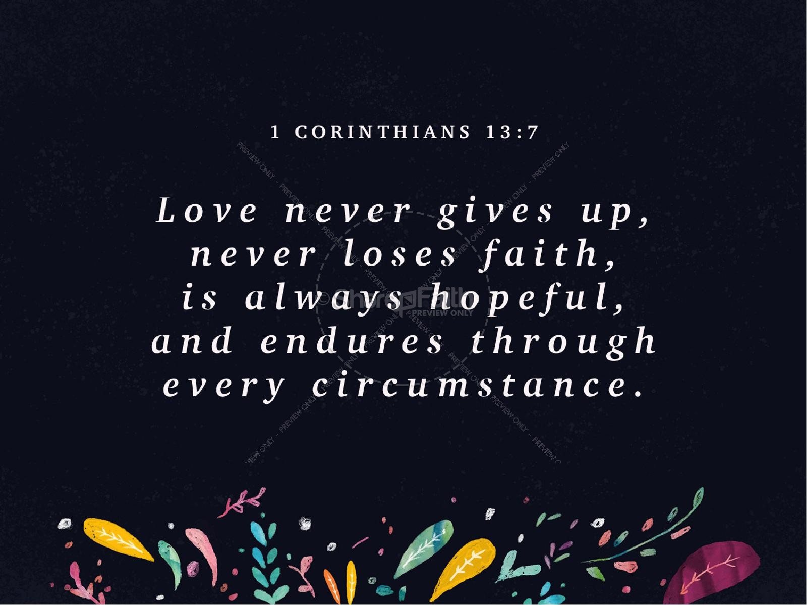 Love Never Gives Up church PowerPoint Valentines Day ...