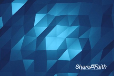 Blue Polygon Wave Worship Motion Background