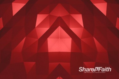 Red Polygon Wave Worship Motion Background