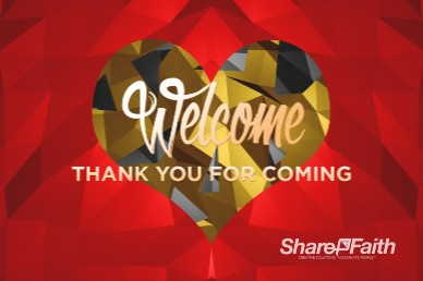 Create In Me A Pure Heart Welcome Church Motion Graphic