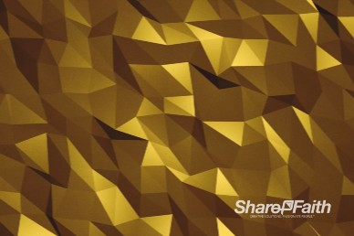 Yellow Polygon Wave Worship Motion Background