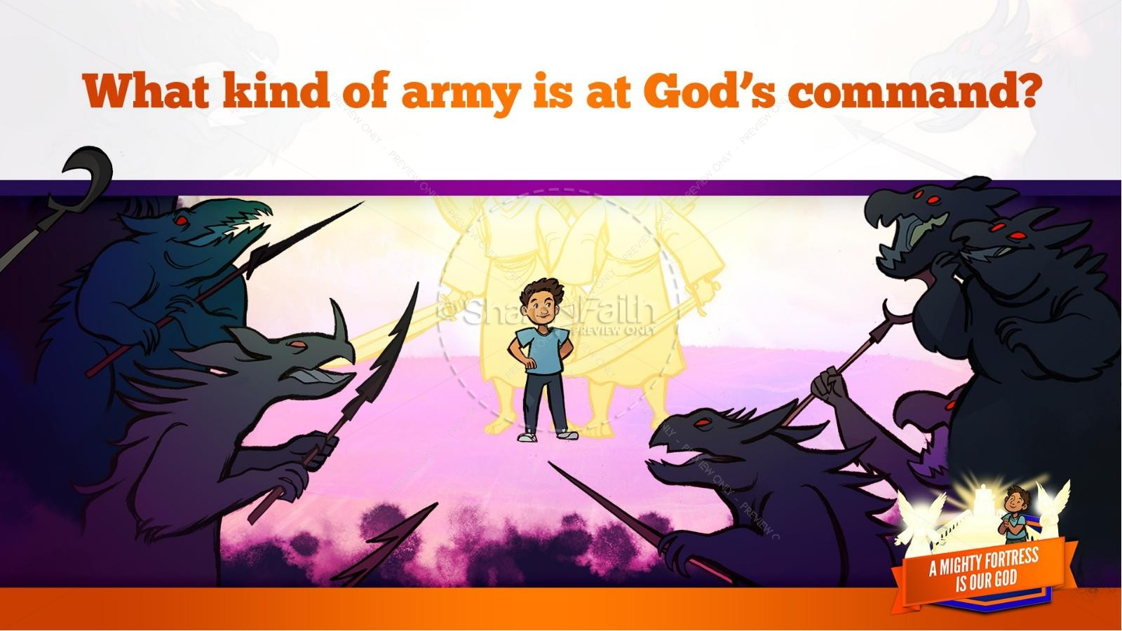 Psalm 91 A Mighty Fortress is our God Kids Bible Story