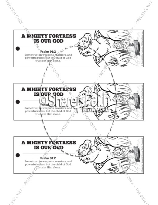 Psalm 91 A Mighty Fortress is our God Bible Bookmarks