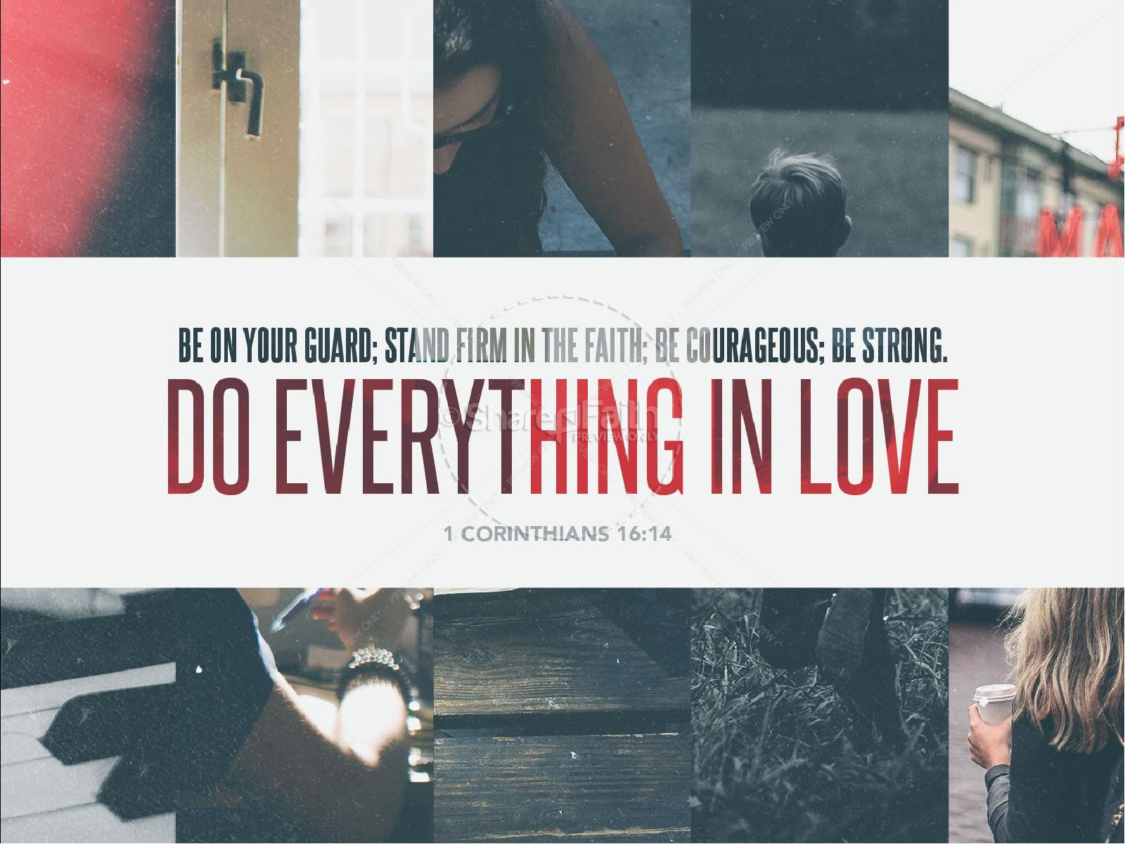 Do Everything In Love Sermon PowerPoint