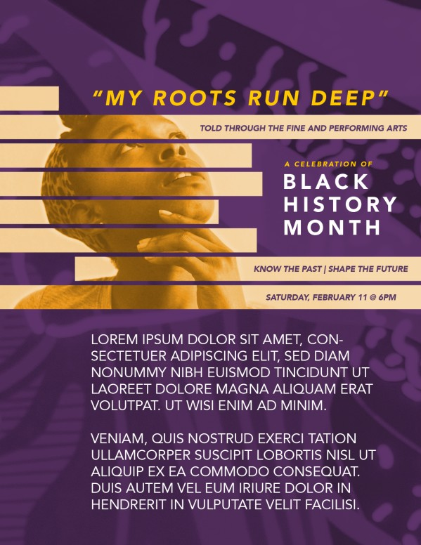 Black History Month Church Flyer