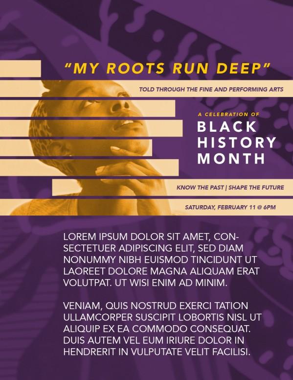 Black History Month Church Flyer
