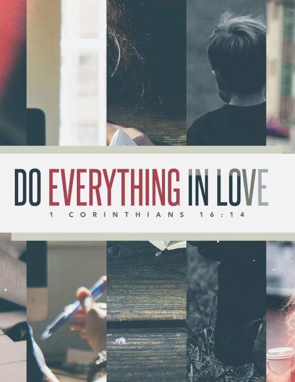 Do Everything In Love Church Flyer