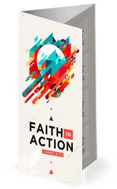 Faith In Action Sermon Trifold Bulletin