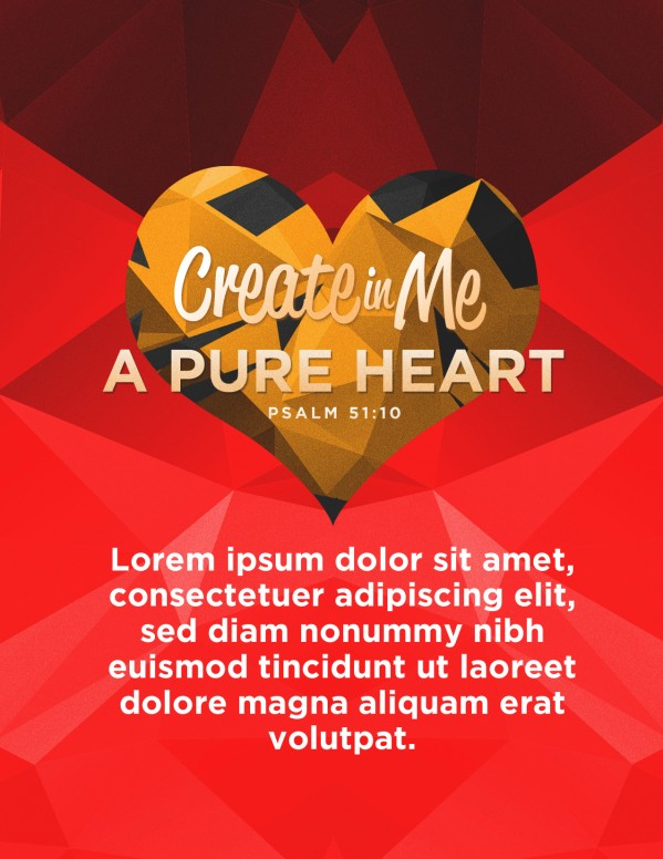 Create In Me A Pure Heart Church Flyer