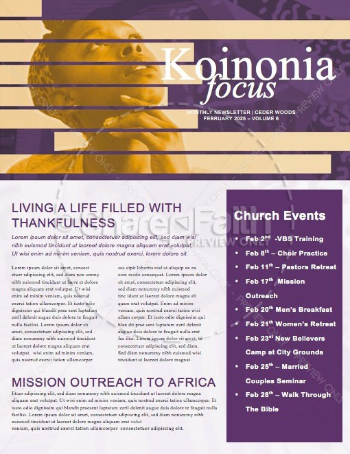 Black History Month Church Newsletter | page 1