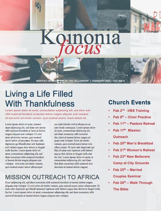 Do Everything In Love Church Newsletter