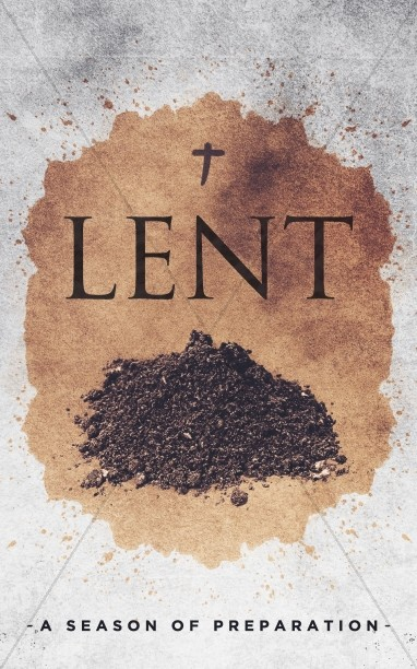 Lent Season Church Bulletin
