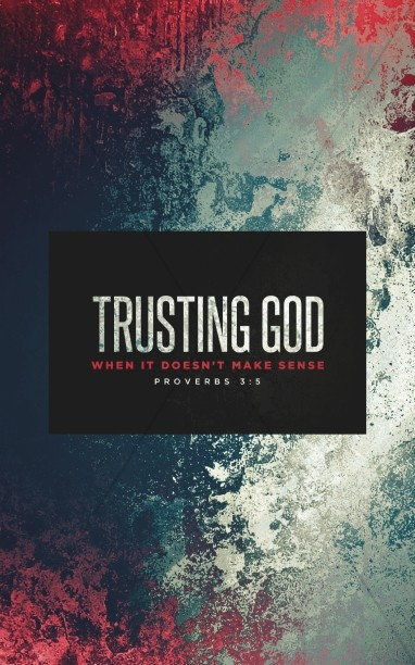 Trusting God Sermon Series Bulletin Cover
