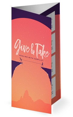 Give And Take Church Trifold Bulletin