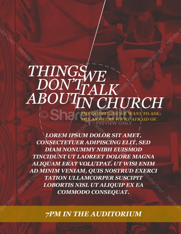 Things We Don't Talk About Church Flyer