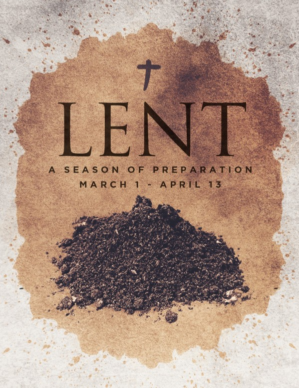 Lent Season Ash Wednesday Church Flyer