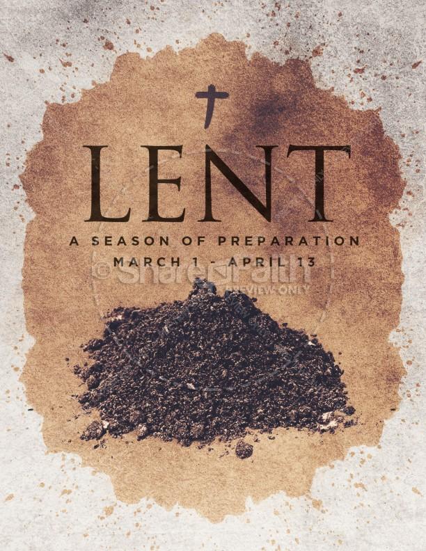 Lent Season Ash Wednesday Church Flyer