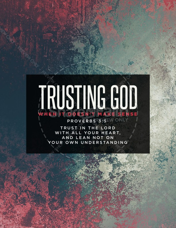 Trusting God Church Flyer Template