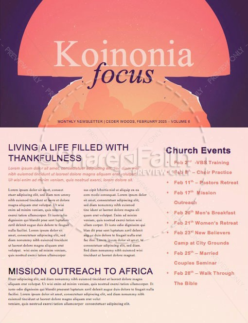 Give And Take Church Newsletter