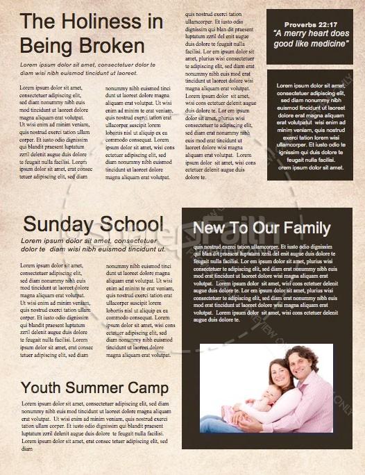 Lent Season Church Newsletter