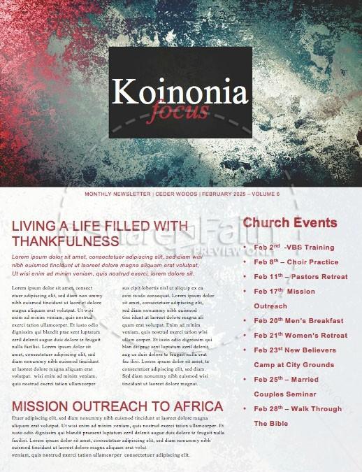 Trusting God Church Newsletter Template