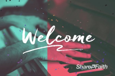 Sing to the Lord A New Song Welcome Church Motion Graphic