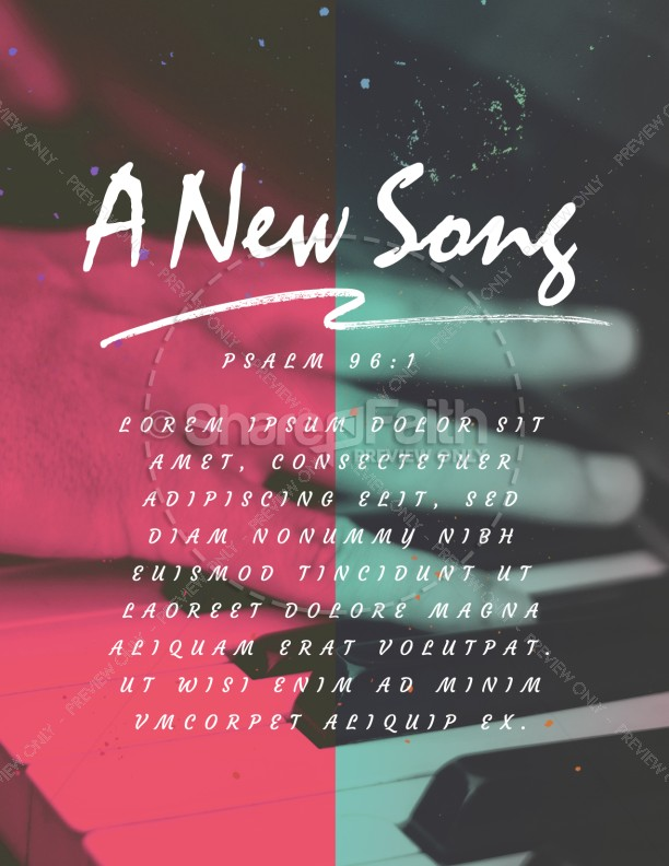 Sing to the Lord A New Song Church Flyer