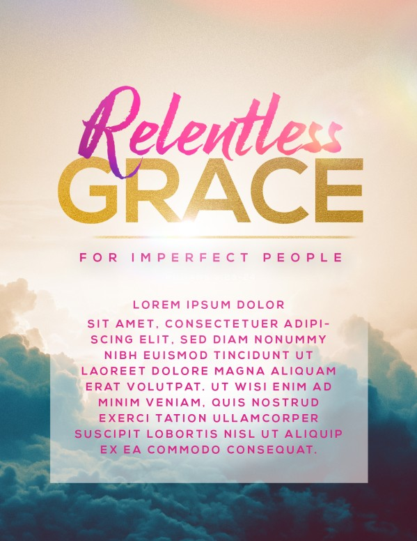 Relentless Grace Church Flyer