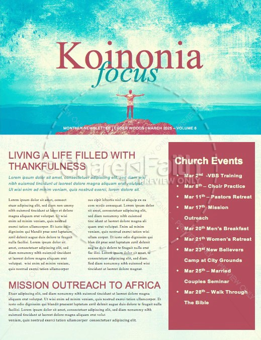 Passion For God Church Newsletter