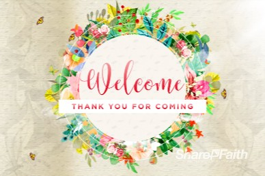 Spring Has Sprung Welcome Church Motion Graphic