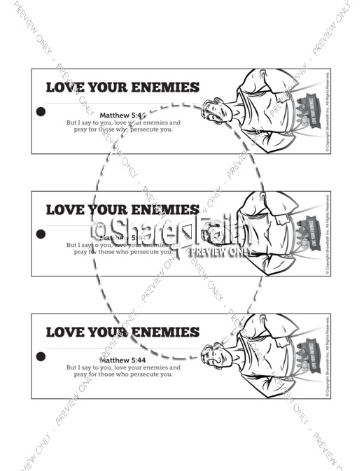 Matthew 5 Love Your Enemies Bible Bookmarks