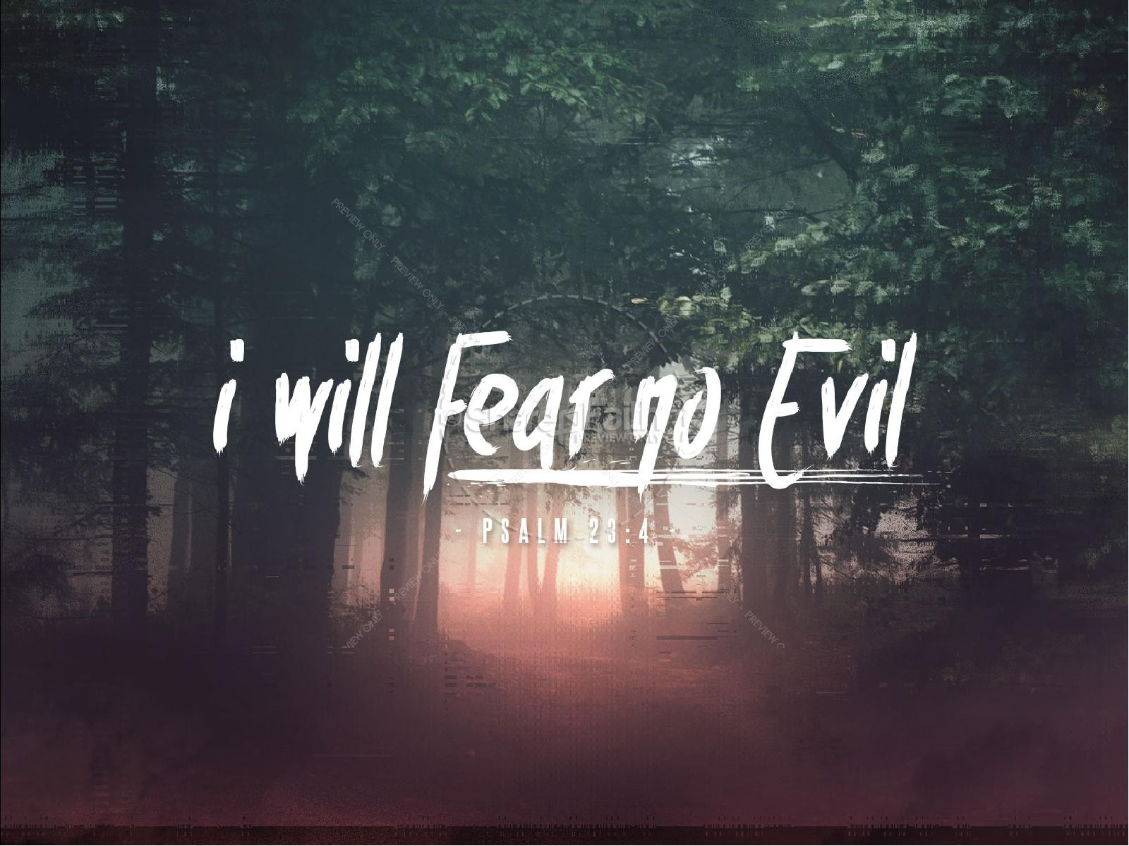 I Will Fear No Evil Sermon PowerPoint