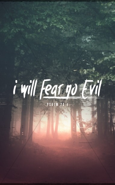 I Will Fear No Evil Church Bulletin