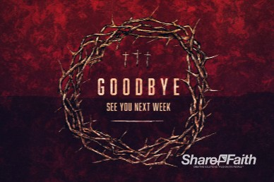 Good Friday Cross and Crown Goodbye Motion Graphic