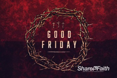 Good Friday Cross and Crown Church Motion Graphic
