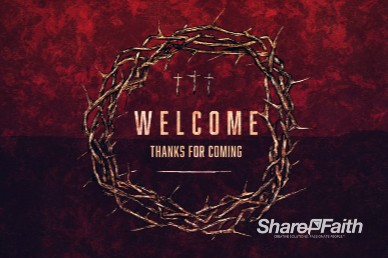 Good Friday Cross and Crown Welcome Motion Graphic