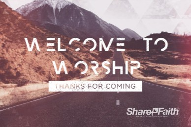 Journey With Christ Welcome Motion Graphic