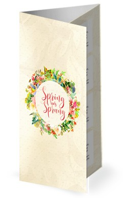Spring Has Sprung Church Trifold Bulletin